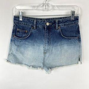 Topshop Moto Mom Jean Denim Cut Off Shorts